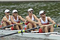 Amsterdam, NETHERLAND, CAN  BLM 4X. 2011 FISA U23 World Rowing Championships, Thursday, 21/07/2011 [Mandatory credit:  Intersport Images].
