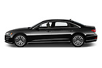 Car Driver side profile view of a 2019 Audi A8-L - 4 Door Sedan Side View