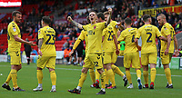 Fleetwood Town's Ashley Hunter celebrates after his side go 3-0 ahead<br /> <br /> Photographer David Shipman/CameraSport<br /> <br /> The EFL Sky Bet League One - Doncaster Rovers v Fleetwood Town - Saturday 6th October 2018 - Keepmoat Stadium - Doncaster<br /> <br /> World Copyright &copy; 2018 CameraSport. All rights reserved. 43 Linden Ave. Countesthorpe. Leicester. England. LE8 5PG - Tel: +44 (0) 116 277 4147 - admin@camerasport.com - www.camerasport.com