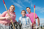 HELPING OUT: Helping with the clean up of St John's graveyard in Tralee last Thursday were Mercy Mounthawk students, l-r: Rebecca Bulman, Aisling O'Connor, Kelvin Reidy.   Copyright Kerry's Eye 2008