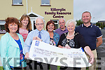 Helen O'Shea, Killorglin Mayor presents a cheque of €2500 to the Killorglin resource centre on Wednesday l-r: Margaret Mangan, Eileen Quirke, Paddy O'Donoghue Chairperson, Margaret Wrenn, Tommy Riordan and Damian Quigg