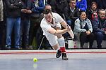 Moritz Möker / Moeker (TSV) am Ball beim Spiel der Hockey Bundesliga Herren, TSV Mannheim - Mannheimer HC.<br /> <br /> Foto © PIX-Sportfotos *** Foto ist honorarpflichtig! *** Auf Anfrage in hoeherer Qualitaet/Aufloesung. Belegexemplar erbeten. Veroeffentlichung ausschliesslich fuer journalistisch-publizistische Zwecke. For editorial use only.
