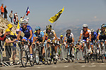 The reamins of the peloton close to the finish of Mont Ventoux during Stage19 of the Tour de France 2009 running 167km from Montelimar to Mont Ventoux, France. 25th July 2009 (Photo by Eoin Clarke/NEWSFILE)