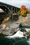 Spokane Falls and the Monroe street Bridge