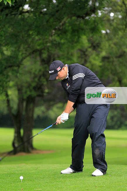Alan Lowry (Esker Hills) on the 3rd tee during round 1 of The Mullingar Scratch Cup in Mullingar Golf Club on Sunday 3rd August 2014.<br /> Picture:  Thos Caffrey / www.golffile.ie