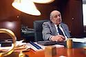 Luigi Lucchini, President of Lucchini spa and former President of Confindustria (employers association), at his office in Brescia, May 1999. © Carlo Cerchioli..Luigi Lucchini, presidente della Lucchini spa ed ex presidente di Cinfindustria, nel suo ufficio a Brescia, maggio 1999.