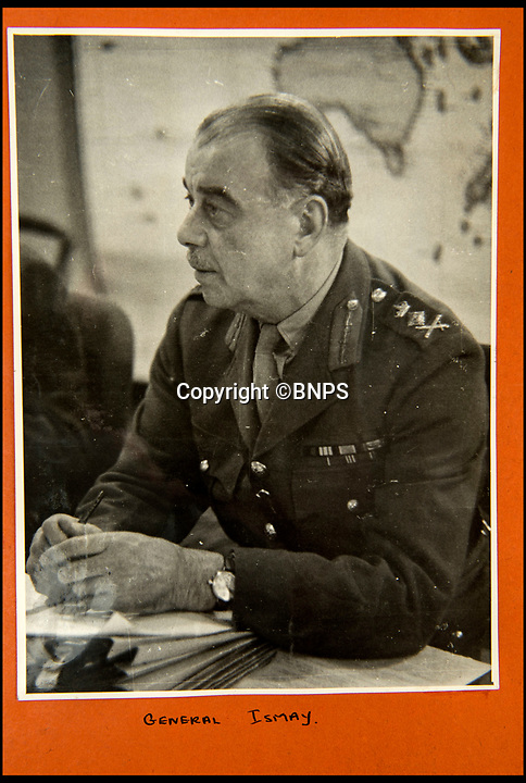 BNPS.co.uk (01202 558833)<br /> Pic: C&amp;T/BNPS<br /> <br /> Brenda Hart's boss General Ismay.<br /> <br /> A humble secretary's remarkable first hand archive of some of the most momentous events of WW2 has come to light.<br /> <br /> 'Miss Brenda Hart' worked in the Cabinet Office during the last two years of the war, travelling across the globe with the Allied leaders as the conflict drew to a close.<br /> <br /> Her unique collection of photographs and momentoes of Churchill, Stalin and other prominent Second World War figures have been unearthed after more than 70 years.<br /> <br /> The scrapbooks, which also feature Lord Mountbatten and Vyacheslav Molotov, were collated by Brenda Hart who, in her role as secretary to Churchill's chief of staff General Hastings Ismay, enjoyed incredible access to him and other world leaders.<br /> <br /> She also wrote a series of letters which give fascinating insights, including watching Churchill and Stalin shaking hands at the Bolshoi ballet in 1944, being behind Churchill as he walked out on to the balcony at the Ministry of Health to to wave to some 50,000 Londoners on VE day and even visiting Hitler's bombed out Reich Chancellery at the end of the war.<br /> <br /> This unique first hand account, captured in a collection of photos, passes, documents and letters are being sold at C&amp;T auctioneers on15th March with a &pound;1200 estimate.