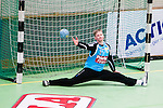 Stockholm 2014-12-03 Handboll Elitserien Hammarby IF - IFK Sk&ouml;vde :  <br /> Hammarbys m&aring;lvakt Daniel Svensson r&auml;ddar ett skott under matchen mellan Hammarby IF och IFK Sk&ouml;vde <br /> (Foto: Kenta J&ouml;nsson) Nyckelord:  Eriksdalshallen Hammarby HIF Bajen IFK Lugi