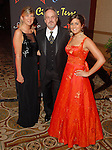 "Glena and Greg Scofelia with their daughter Stephanie at the San Luis Salute to ""The Italian Riviera"" at the Galveston Island Convention Center at the San Luis Friday  Feb. 20, 2009.(Dave Rossman/For the Chronicle)"