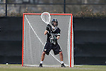 12 February 2017: CSU's Caleb Espinoza. The Duke University Blue Devils hosted the Cleveland State University Vikings at Koskinen Stadium in Durham, North Carolina in a 2017 Division I College Men's Lacrosse match. Duke won the game 22-7 in overtime.