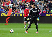 Wednesday, 23 April 2014<br /> Pictured: Michel Vorm<br /> Re: Swansea City FC are holding an open training session for their supporters at the Liberty Stadium, south Wales,