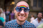 "© Joel Goodman - 07973 332324 . 23/08/2014 .  Manchester , UK . Face in the crowd . The parade through Manchester City Centre . Manchester Pride "" Big Weekend "" in Manchester "" today ( 23rd August 2014 ) . Photo credit : Joel Goodman"