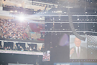 Former mayor of New York City Michael Bloomberg speaks at the Democratic National Convention at the Wells Fargo Center in Philadelphia, Pennsylvania, on Wed., July 27, 2016.