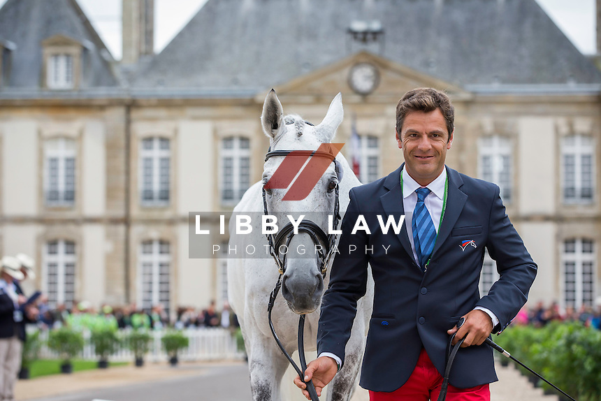 FRA-Cédric Lyard (CADEAU DU ROI) FIRST HORSE INSPECTION: EVENTING: The Alltech FEI World Equestrian Games 2014 In Normandy - France (Wednesday 27 August) CREDIT: Libby Law COPYRIGHT: LIBBY LAW PHOTOGRAPHY - NZL