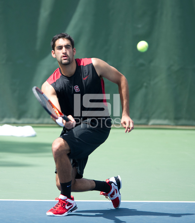 Stanford, Ca - Wednesday, April 18, 2012: Stanford Men's Tennis vs Pacific.