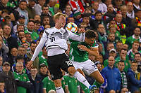 Julian Brandt (Deutschland Germany) gegen Alfie Mccalmont (Nordirland, Northern Ireland) - 09.09.2019: Nordirland vs. Deutschland, Windsor Park Belfast, EM-Qualifikation DISCLAIMER: DFB regulations prohibit any use of photographs as image sequences and/or quasi-video.
