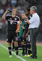 FUSSBALL   CHAMPIONS LEAGUE   SAISON 2011/2012  Qualifikation  23.08.2011 FC Zuerich - FC Bayern Muenchen Trainer Jupp Heynckes  (re, FC Bayern Muenchen) und sein Kapitaen Philipp Lahm (li, FC Bayern Muenchen)