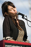 Songer-songwriter Lucy Schwartz performs at the Balboa Beach Music Fest October 13.