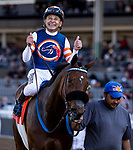 DEC 28: Mirth with Mike Smith win the Robert Frankel Stakes at Santa Anita Park in Arcadia, California on December 28, 2019. Evers/Eclipse Sportswire/CSM