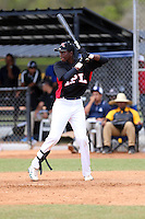 Jesus Munoz participates in the International Prospect League Showcase at the New York Yankees academy in Boca Chica, Dominican Republic on January 24, 2014 (Bill Mitchell)