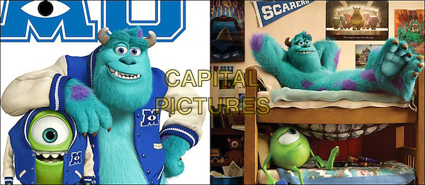 Mike Wazowski (voice of Billy Crystal) & Sully (voice of John Goodman).in Monsters University (2013) .*Filmstill - Editorial Use Only*.CAP/NFS.Supplied by Capital Pictures.