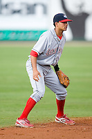 Shortstop Freddy Galvis (13) of the Lakewood BlueClaws on defense versus the Kannapolis Intimidators at Fieldcrest Cannon Stadium in Kannapolis, NC, Sunday, May 11, 2008.