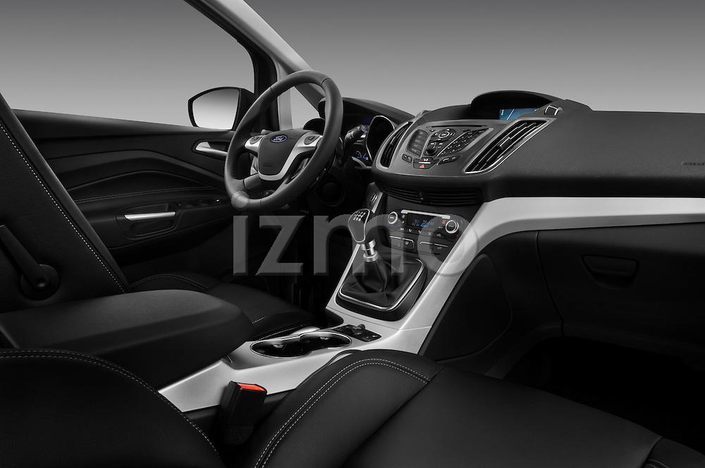 Passenger side dashboard view of a 2011 Ford Grand C-Max Titanium Mini MPV  .