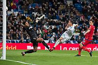 Real Madrid Lucas Vazquez and CD Numancia Munir Mohand during King's Cup match between Real Madrid and CD Numancia at Santiago Bernabeu Stadium in Madrid, Spain. January 10, 2018. (ALTERPHOTOS/Borja B.Hojas) /NortePhoto.com NORTEPHOTOMEXICO
