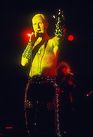 Judas Priest;  Rob Halford ; Live; 1990<br /> Photo Credit: Eddie Malluk/Atlas Icons.com