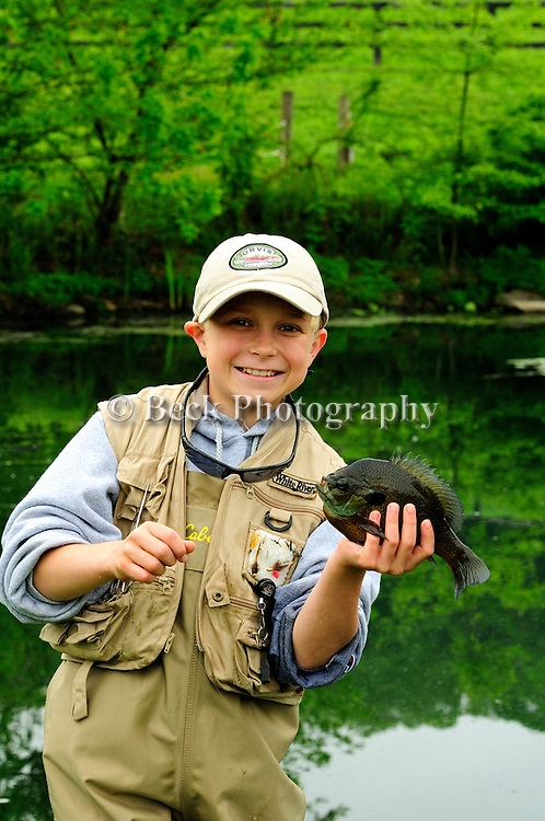 JOE FORY'S SON FLY FISHING FOR PAN FISH