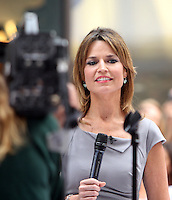 June 29, 2012 Savannah Guthrie host of NBC's Today Day begins her first day as host on the show replacing the ousted Ann Curry. New York City. &copy; RW/MediaPunch Inc. *NORTEPHOTO.COM*<br />