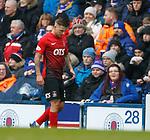 16.03.2019 Rangers v Kilmarnock: Eamonn Brophy injured