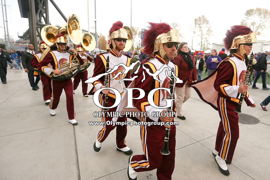 SEATTLE, WA - NOVEMBER 12:  USC band members entertained fans during the game. Washington defeated USC at the University of Washington in Seattle, WA.