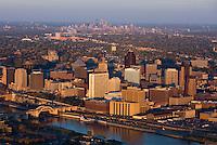 The twin cities of St. Paul & Minneapolis, Minnesota.