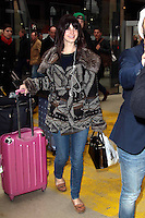 Lana Del Rey arrives at the Paris North train station by Eurostar - France