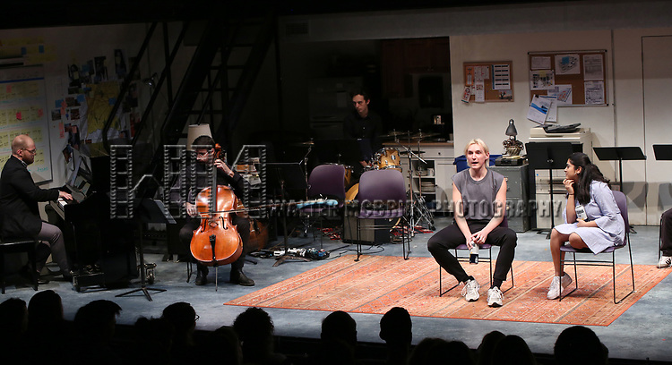 "Peter Smith with the cast of ""XY"" during the 2018 Presentation of New Works by the DGF Fellows on October 15, 2018 at the Playwrights Horizons Theatre in New York City."