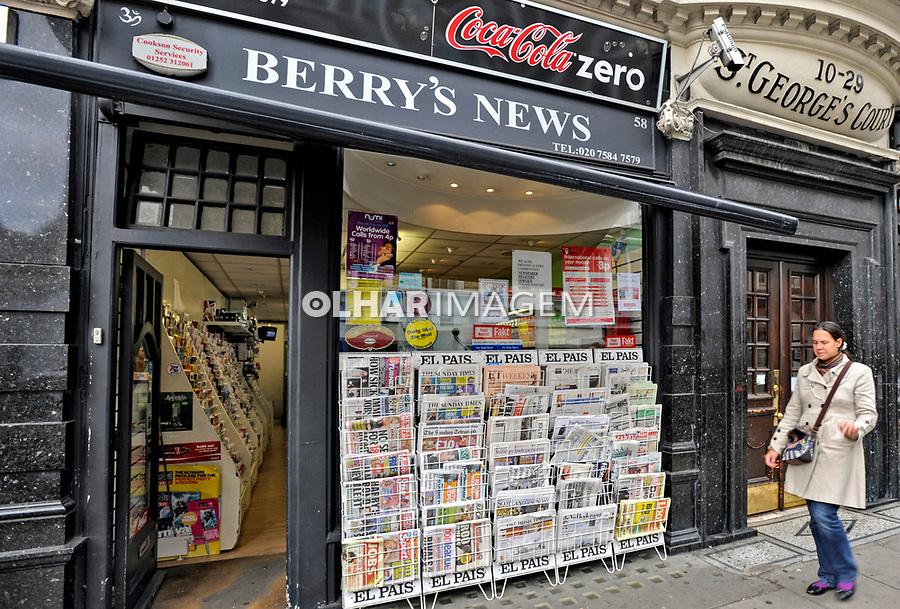 Banca de jornais, Londres. Foto Juca Martins.