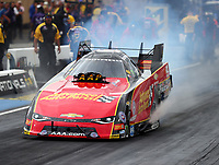 Jul 21, 2017; Morrison, CO, USA; NHRA funny car driver Courtney Force during qualifying for the Mile High Nationals at Bandimere Speedway. Mandatory Credit: Mark J. Rebilas-USA TODAY Sports