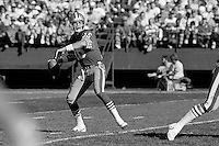 SAN FRANCISCO, CA - Quarterback Joe Montana of the San Francisco 49ers in action during a game against the St. Louis Cardinals at Candlestick Park in San Francisco, California in 1986. Photo by Brad Mangin