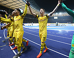 16.03.2019, OLympiastadion, Berlin, GER, DFL, 1.FBL, Hertha BSC VS. Borussia Dortmund, <br /> DFL  regulations prohibit any use of photographs as image sequences and/or quasi-video<br /> <br /> im Bild Dortmunder Spieler, Marco Reus (Borussia Dortmund #11)<br /> , Jadon Malik Sancho (Borussia Dortmund #7)<br /> <br />       <br /> Foto &copy; nordphoto / Engler