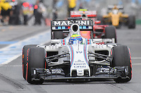 March 19, 2016: Felipe Massa (BRA) #19 from the Williams Martini Racing team leaving the pits for qualifying at the 2016 Australian Formula One Grand Prix at Albert Park, Melbourne, Australia. Photo Sydney Low