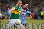 Kerry's Kieran Donaghy and Dublin's Cian O'Sullivan.