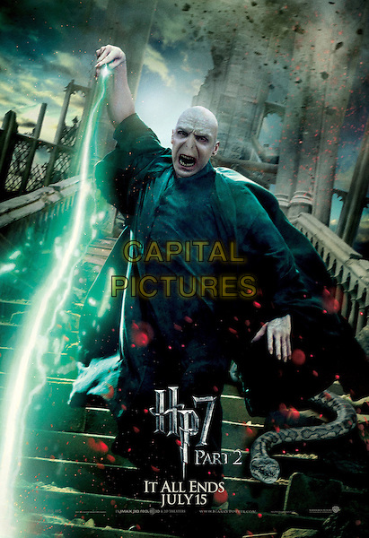 ACTION VOLDEMORT POSTER ART.in Harry Potter and the Deathly Hallows: Part 2 .*Filmstill - Editorial Use Only*.CAP/FB.Supplied by Capital Pictures.