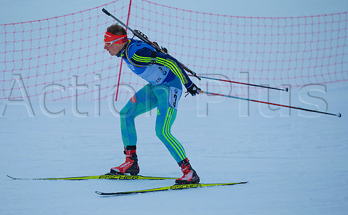 05.03.2016. Oslo Holmenkollen, Oslo, Norway. IBU Biathlon World Championships. OLeksander Zhyrnyi of Ukraine  competes in the men 10km sprint competition during the IBU World Championships Biathlon in Holmenkollen Oslo, Norway.