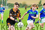 Austin Stacks' Liam Moroney lines up a shot under pressure from Michael O'Callaghan from Keel/Listry