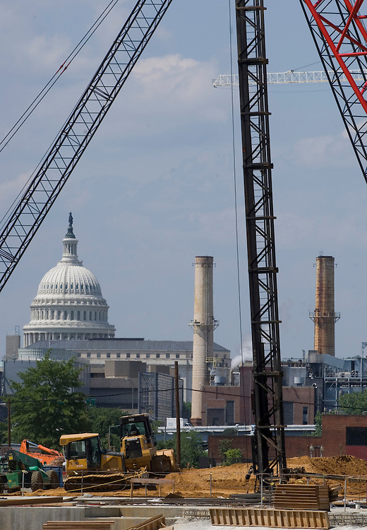 After announcing next year's season ticket prices, the Washington Nationals took the media on a tour of their new stadium on Wednesday, June 6, 2007. The Capitol dome can be seen from the new stadium.