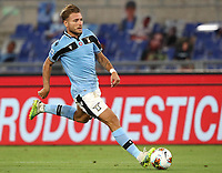 Football, Serie A: S.S. Lazio - Cagliari, Olympic stadium, Rome, July 23, 2020. <br /> Lazio's Ciro Immobile in action during the Italian Serie A football match between Lazio and Cagliari at Rome's Olympic stadium, Rome, on July 23, 2020. <br /> UPDATE IMAGES PRESS/Isabella Bonotto