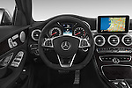 Car pictures of steering wheel view of a 2018 Mercedes Benz C-Class C300 Sport 4 Door Sedan Steering Wheel