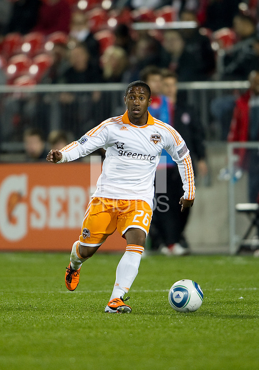 07 May 2011: Houston Dynamo midfielder Corey Ashe #26 in action during an MLS game between the Houston Dynamo and the Toronto FC at BMO Field in Toronto, Ontario..Toronto FC won 2-1.