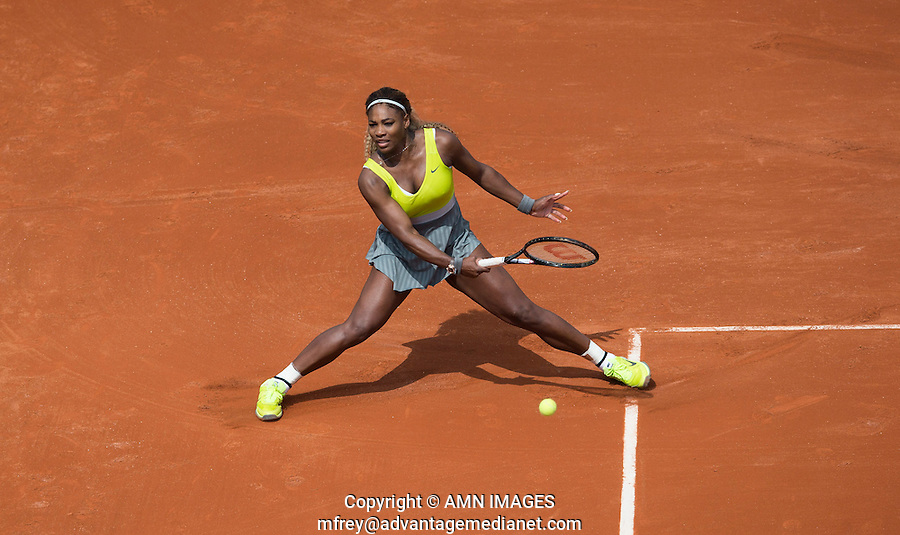 SERENA WILLIAMS (USA)<br /> <br /> Tennis - French Open 2014 -  Toland Garros - Paris -  ATP-WTA - ITF - 2014  - France -  25 May 2014. <br /> <br /> &copy; AMN IMAGES